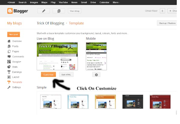 How Remove Photos/Images Border In Simple Or Awesome Inc Templates Blogger