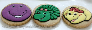 barney and friends fancy cookies