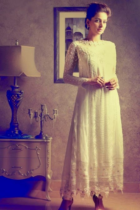 Party wear white dresses by rani siddiqi wwwfashionhuntworldblogspot 8  - Party Wear White Dresses 2014 By Rani Siddiqi