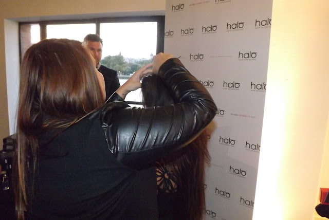 Halo Hair Extensions @ BLFW