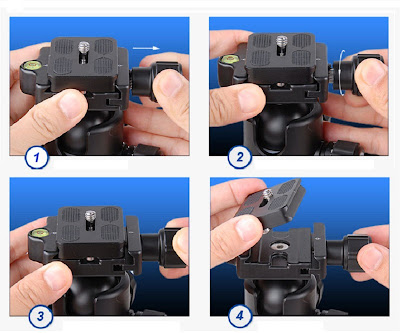 New Benro B Series Quick Release Clamp release sequence