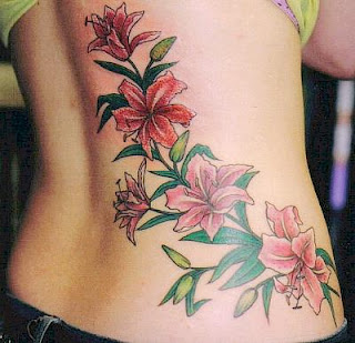 stemmed flower tattoos