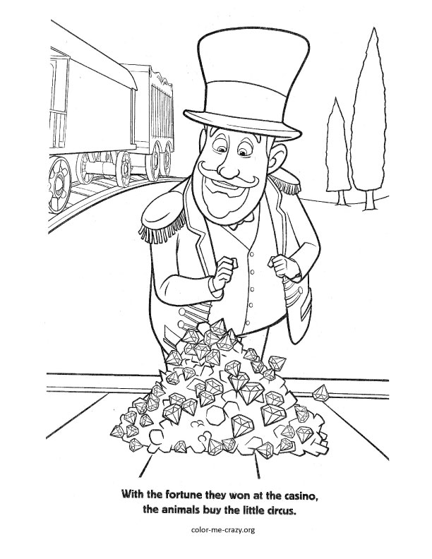 madagascar 3 circus coloring pages - photo#36