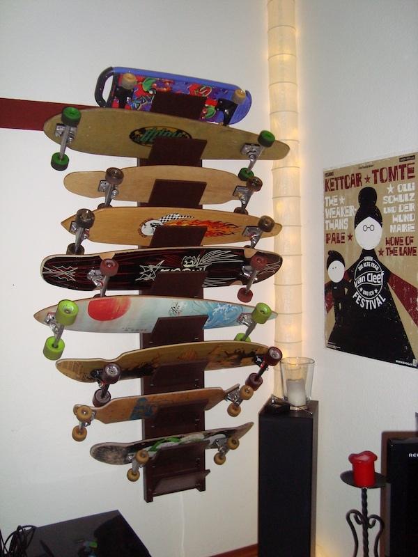 skateboard rack stuff pinterest skateboard rack and. Black Bedroom Furniture Sets. Home Design Ideas