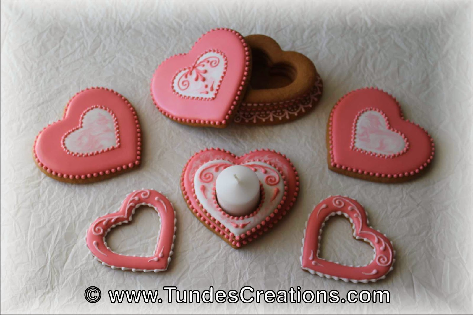 Valentine's cookie gift set