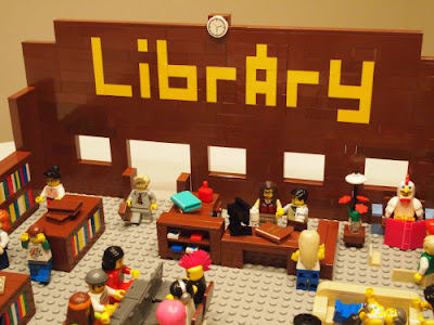Lego public library constructed by Joe Hardenbrook (Mr. Library Dude)