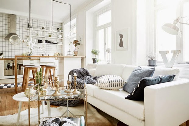 ... in a Small Scandinavian Apartment  design attractor  Bloglovin
