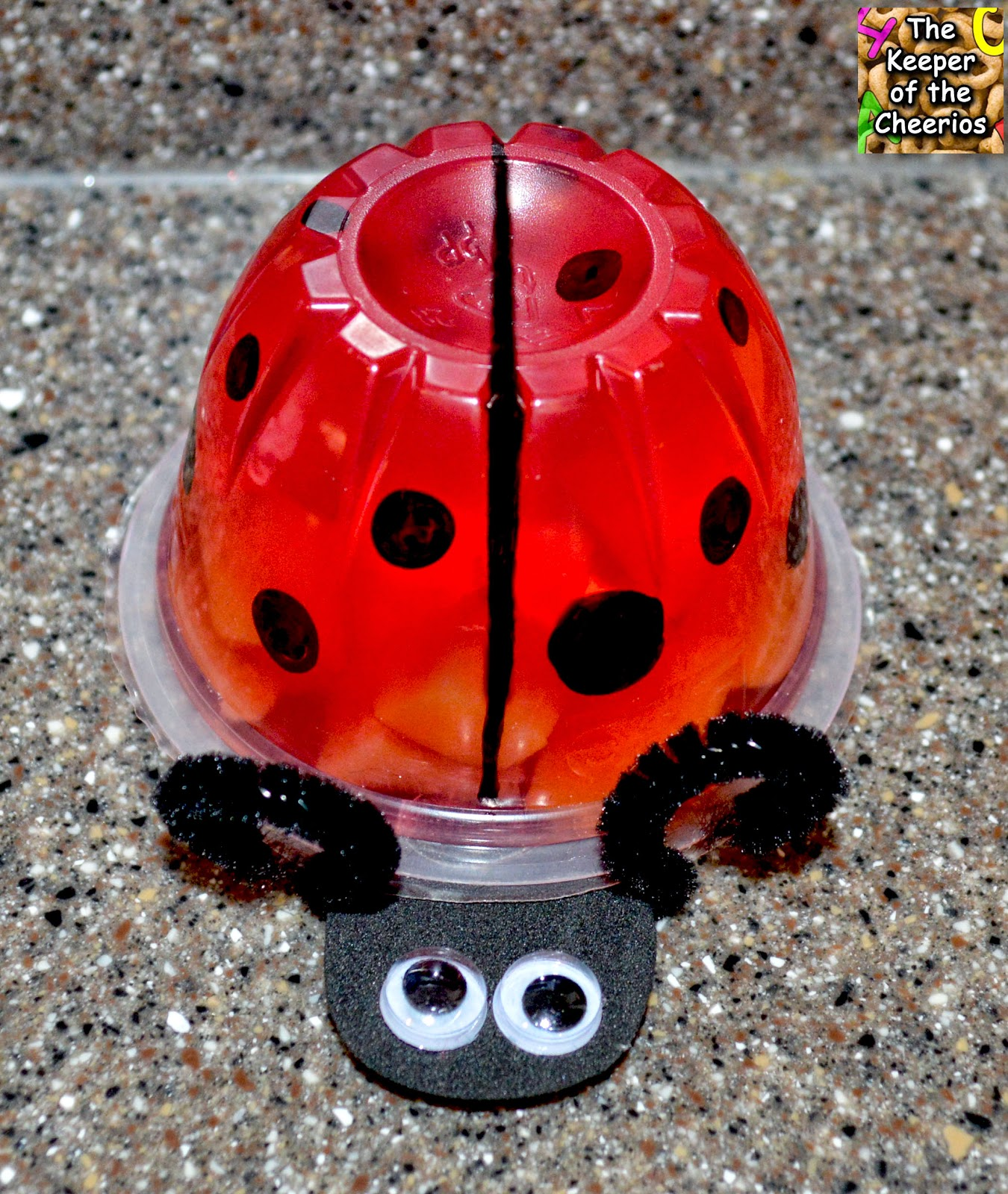 ladybug jello fruit cup
