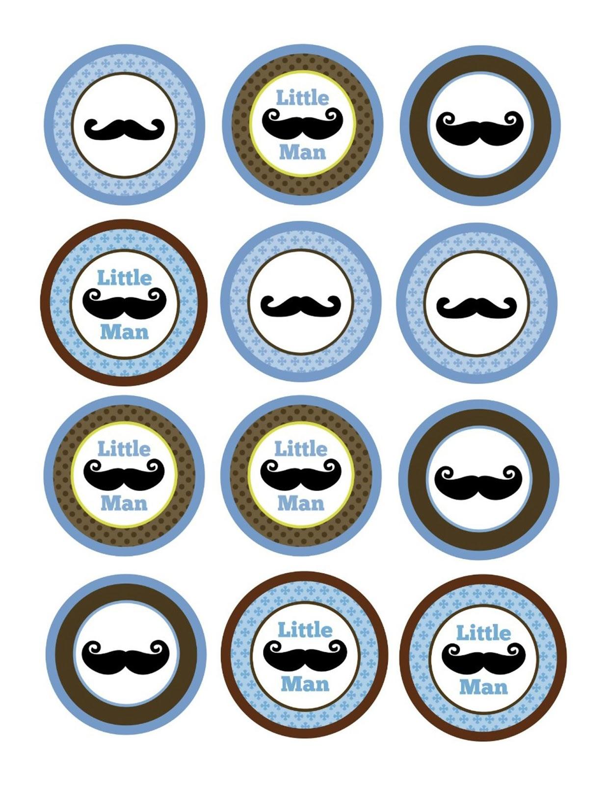 Mustache Cupcake Topper