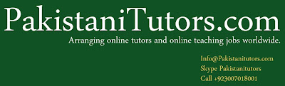Pakistani Teachers are providing online tuition in Pakistan for Math, MBA, Statistics, Accounting,