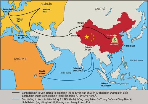 Đồ họa con đường tơ lụa trên biển của  Trung Quốc