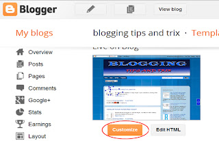 change background theme of blogger