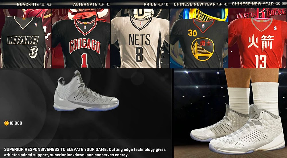 2015 New Uniforms in NBA 2K15