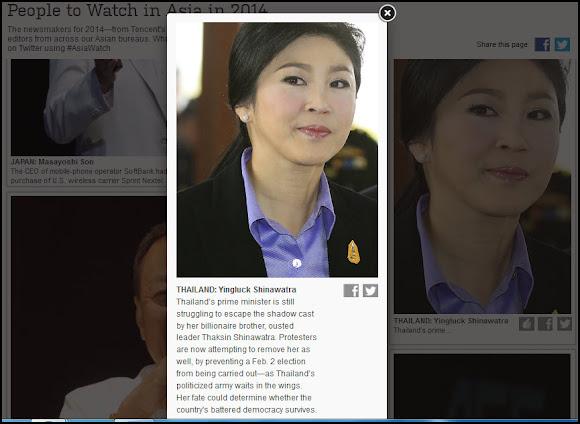 ยิ่งลักษณ์ ชินวัตร People to Watch in Asia in 2014