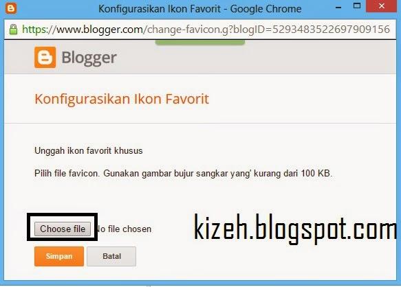 Cara menambahkan favicon di blog