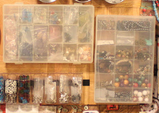 Recycled crafts:  organizers for the repurposed suitcase