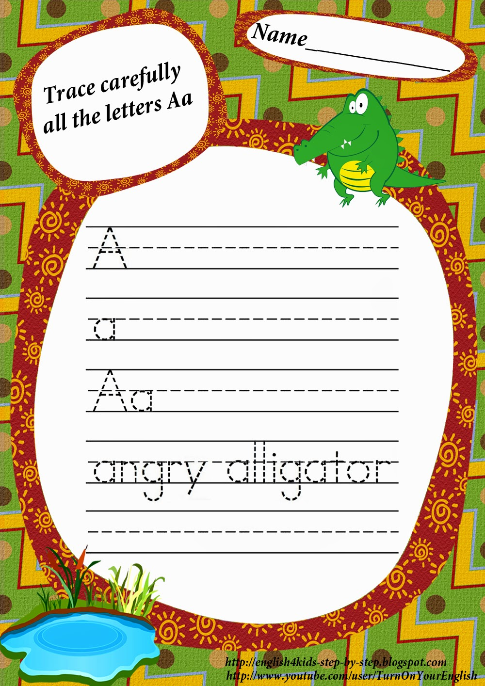 Letter A Song. Alligator Song for Kids Learning English ABC.