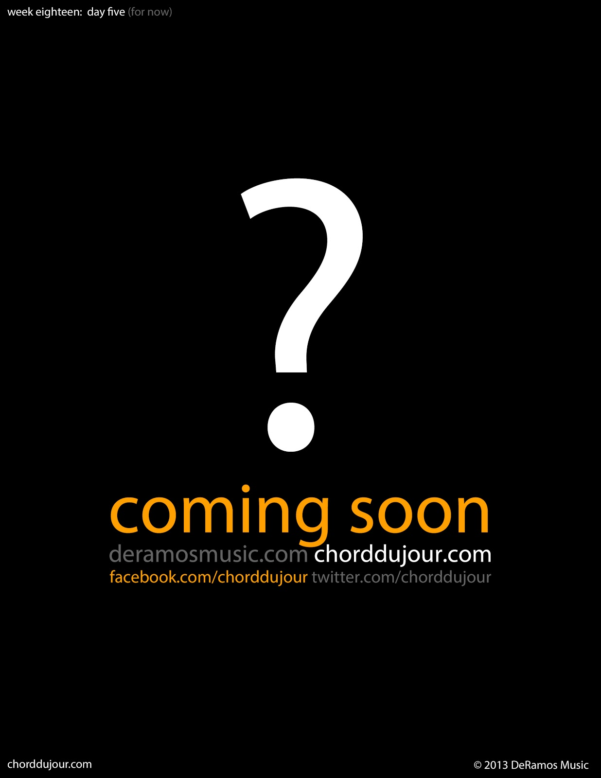 """Chord du Jour Final """"Coffee Table Book"""" Page ing Soon"""