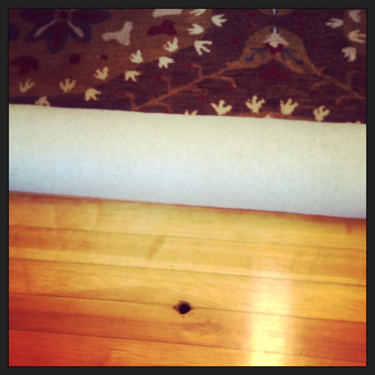 greenstylemom hole in the floor