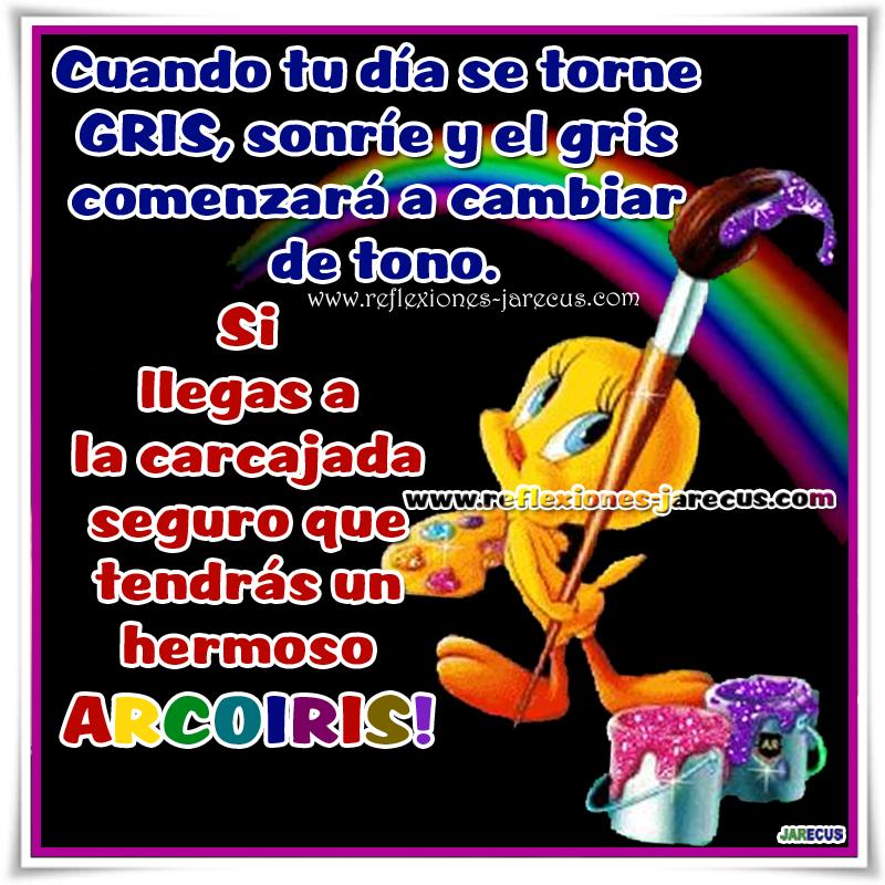 arco iris, carcajada, Frases de felicidad, Frases de sonrisa, piolin,