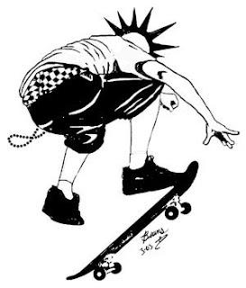 Desenhos Preto e Branco as melhor skate   Colorir