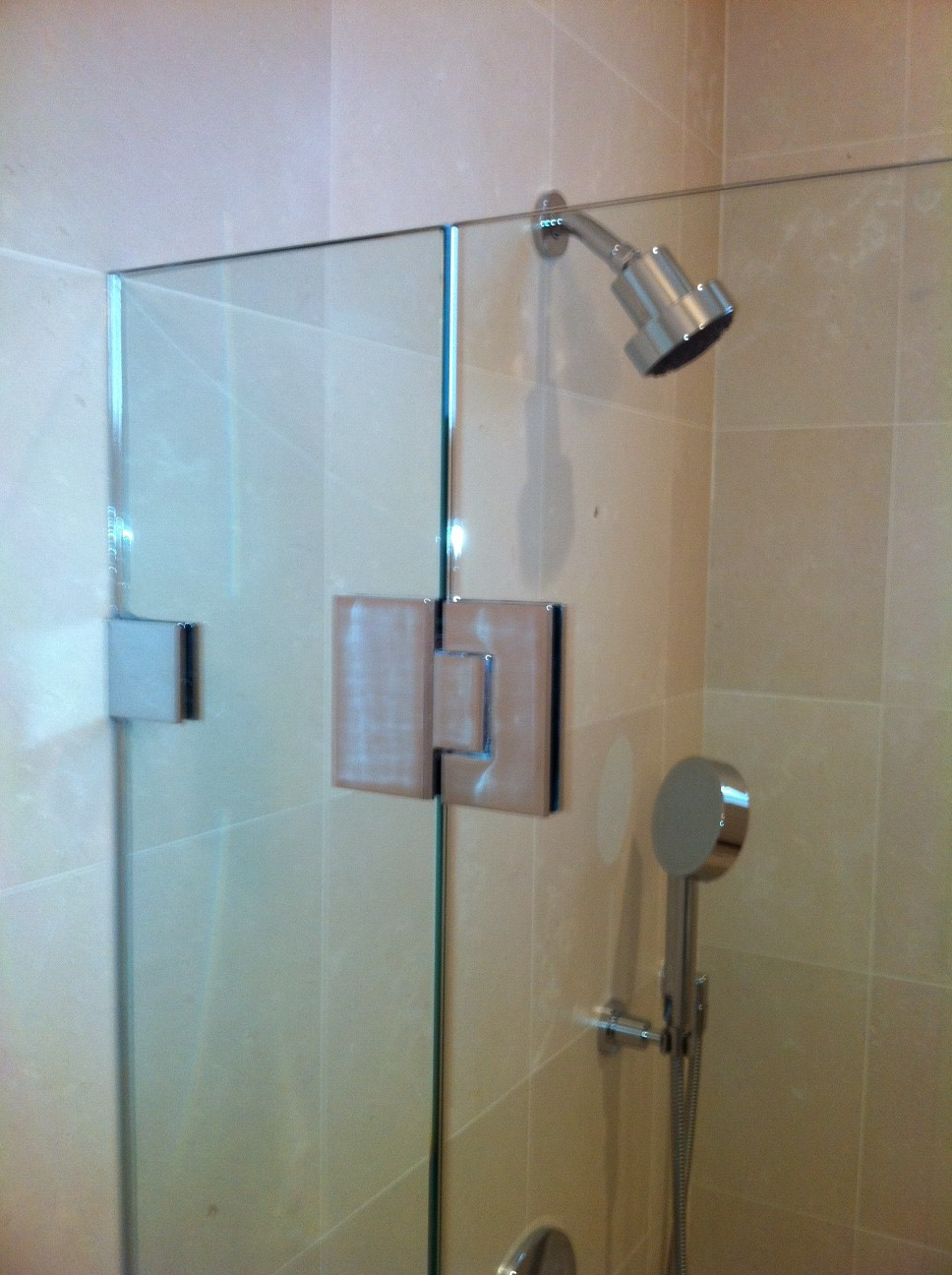 Frameless Shower Door, With CR Laurence Hardware - OT Glass