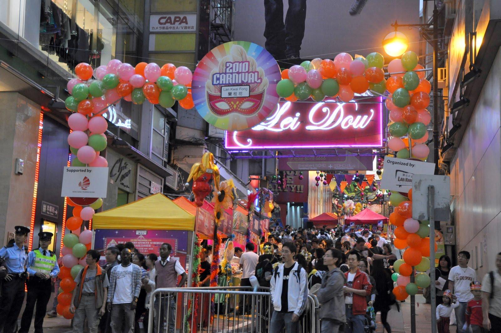 hong kong) - nightlife at lan kwai fong   free download wallpaper