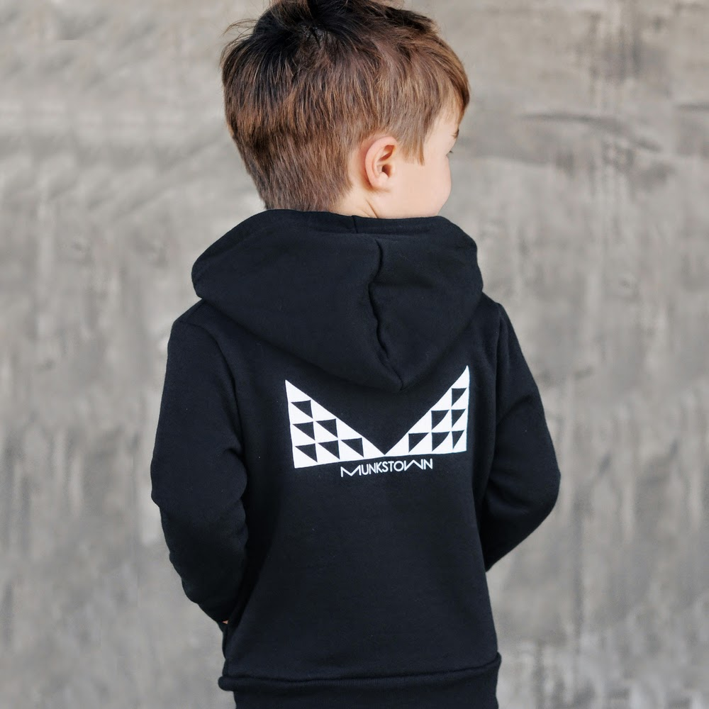 Love this monochrome hoody by Munkstown for spring 2014 kidswear collection