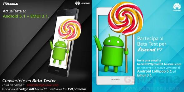Update Android v5.1 Lollipop untuk Huawei Ascend P7 sudah dalam pengujian, segera rilis dalam waktu dekat