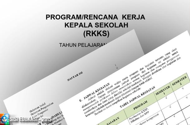 Program Rencana Kerja Kepala Sekolah (RKKS) SMP Download Contoh File dalam Format DOC Microsoft Word