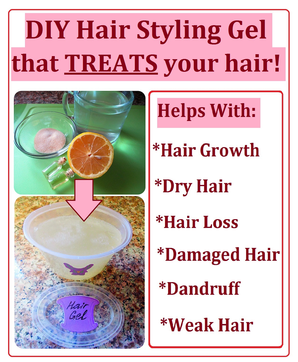 How to Make Hair Styling Gel that TREATS your hair. Easy and Quick DIY
