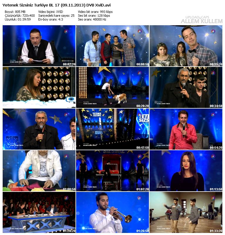 Yetenek Sizsiniz Türkiye 17.Bölüm (09.11.2013) DVBRip XviD Tek Link İndir