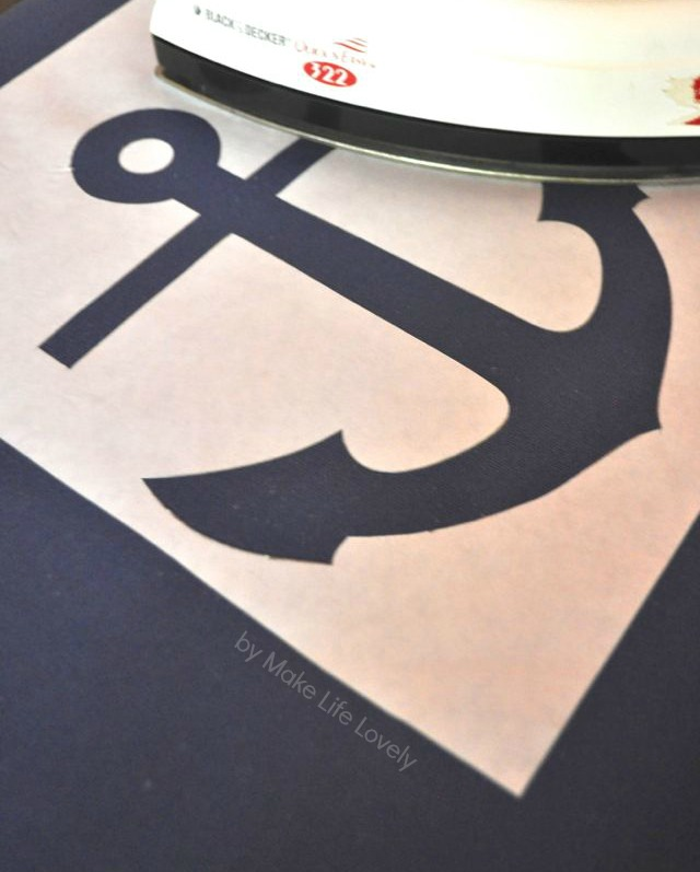 photo relating to Printable Anchor Stencil referred to as Do it yourself Anchor Pillow + Totally free Printable - Create Everyday living Magnificent