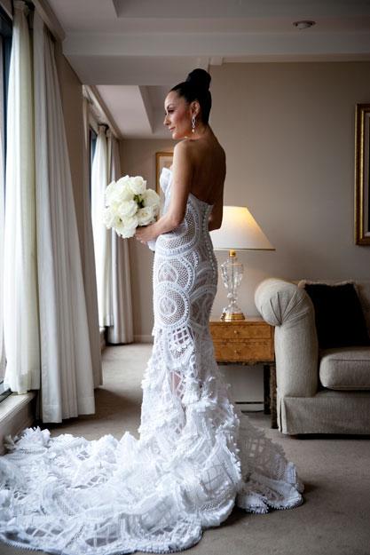 Идея для вязаного свадебного платья
