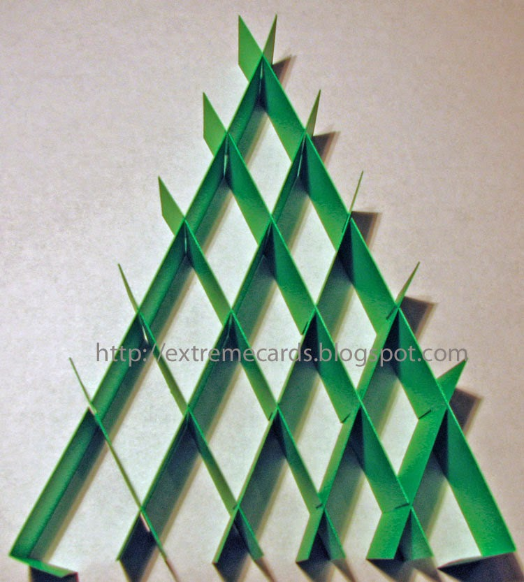 complete slice form Christmas tree