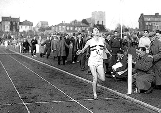 roger bannister 4 minute mile When roger bannister ran the first sub-four-minute mile in 1954, the narrative of  the day was that bannister had done the impossible.