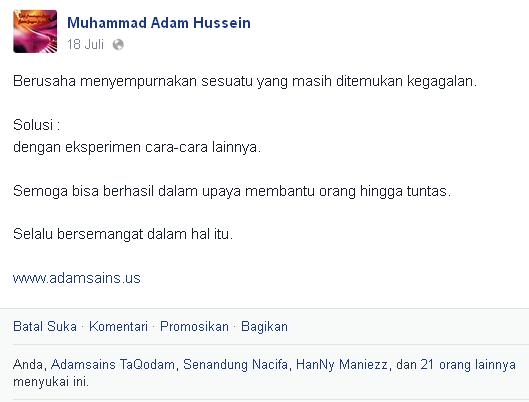 Bukti Kata Motivasi Muhammad Adam Hussein, S.Pd - Kedua