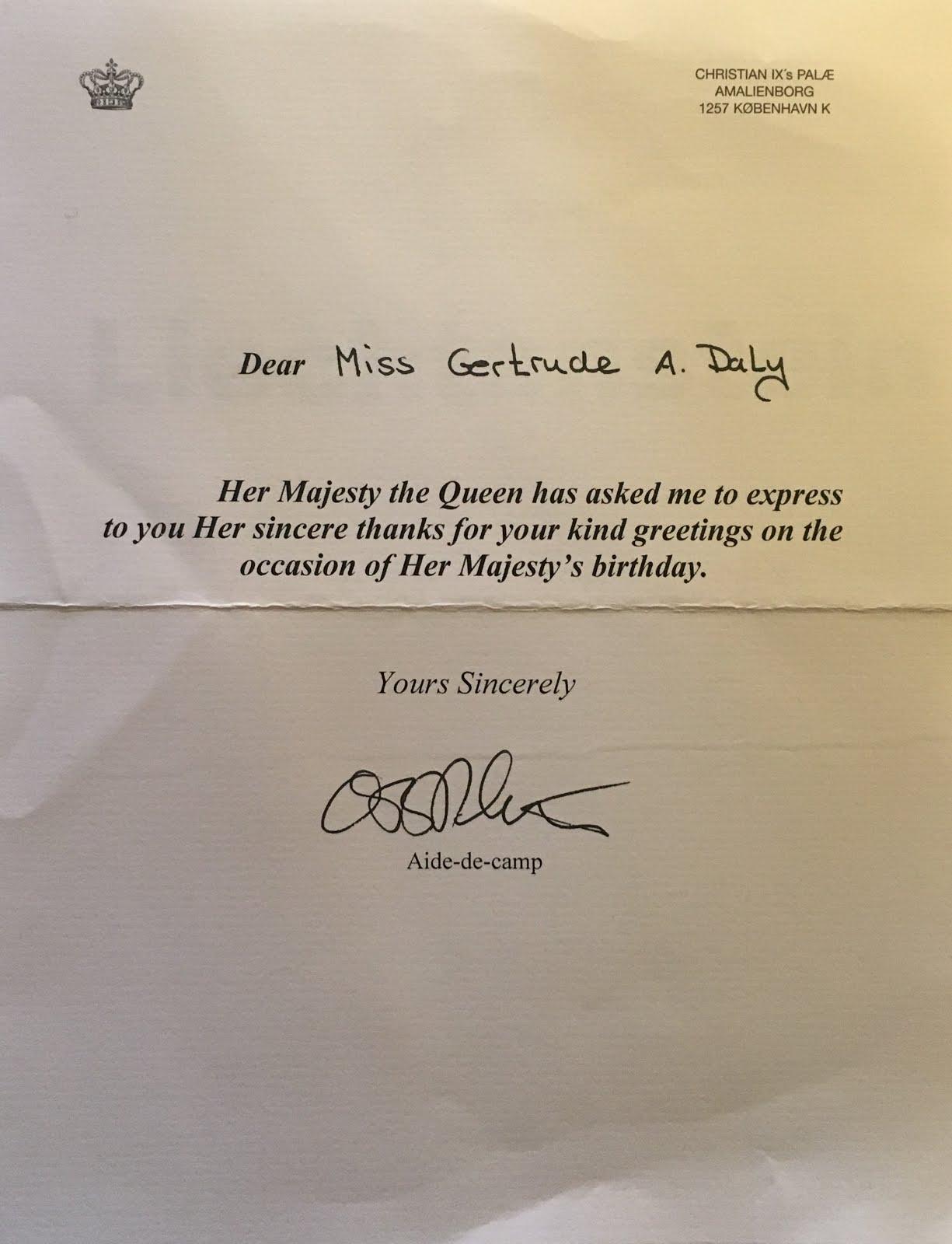 Gerts Royals Queen Elizabeth Queen Margrethe Birthday Reply 2017
