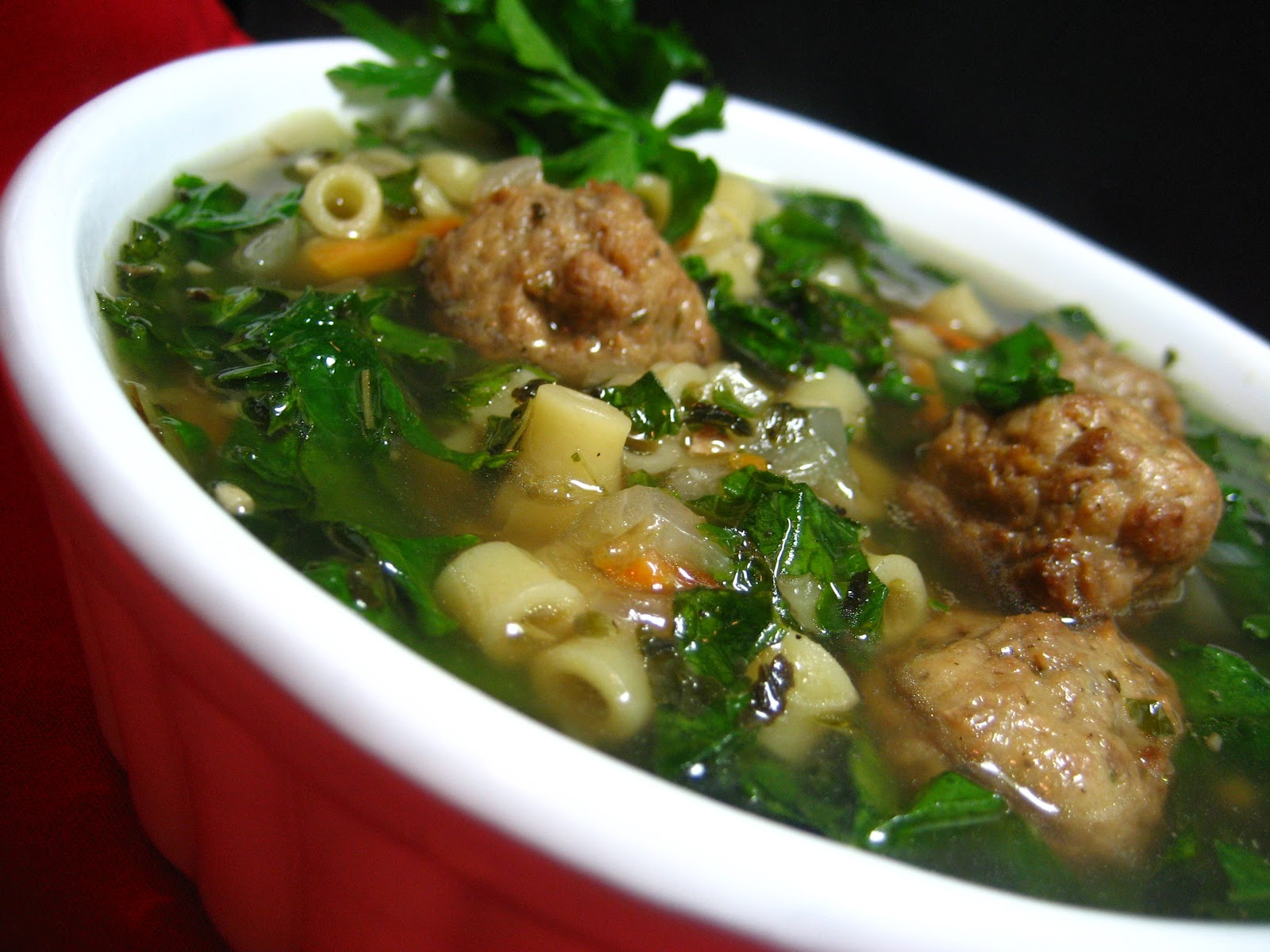 Insatiably Epicurious...: Italian Wedding Soup (Minestra Maritata)
