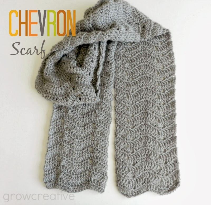 free crochet pattern chevron scarf