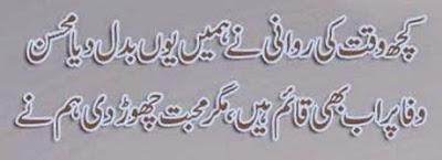 """Kuchh Waqt ki Rawani ny Hamen Youn Badal dia """"Mohsin"""""""