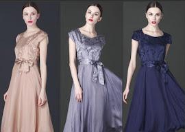 New 2016 3-Color Pure Silk Brocade Flare Dress