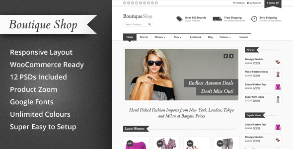 Boutique Shop Responsive WooCommerce Theme Version 1.4.3 free