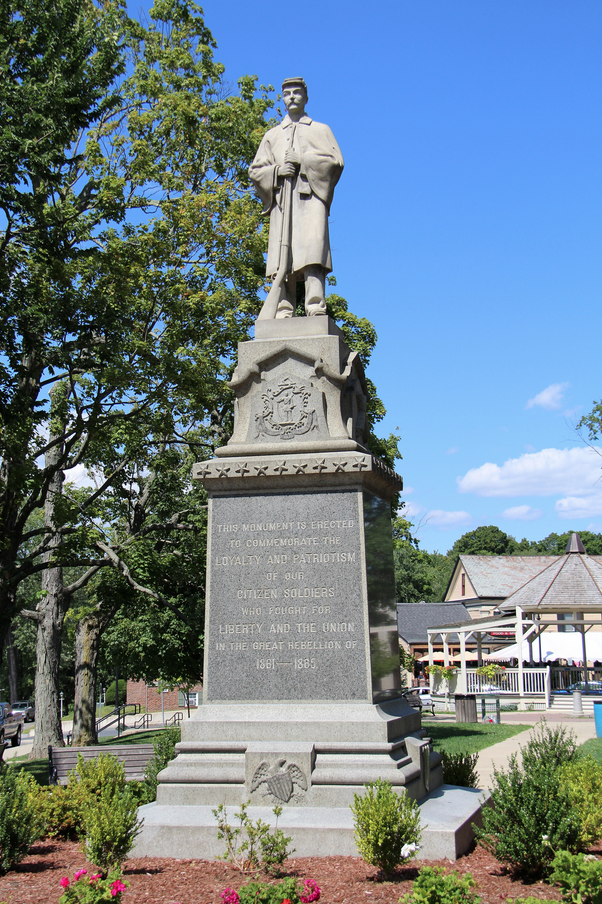 civil war great rebellion monument haley ma