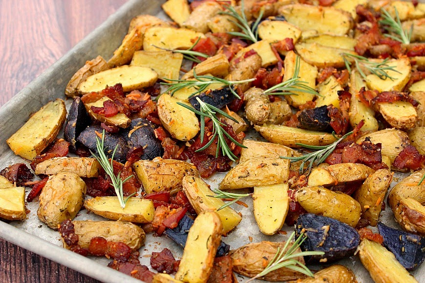 ... Potatoes with Lemon, Parmesan, Rosemary and Bacon are the perfect side