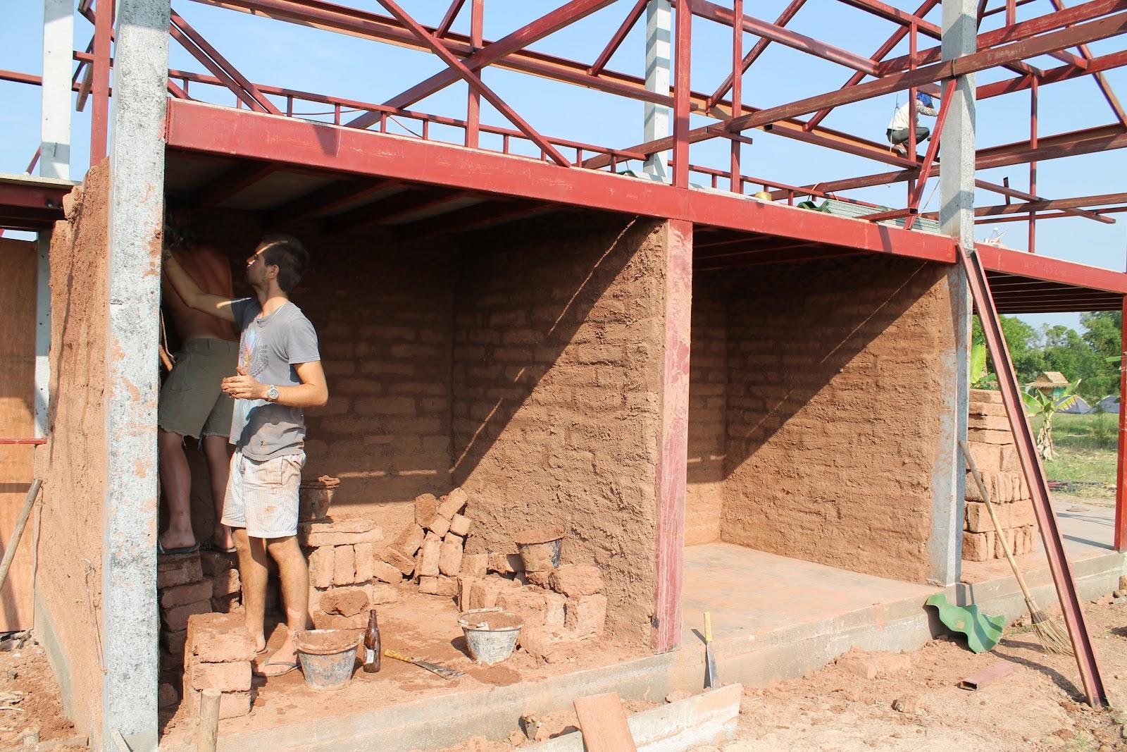 how to make mud bricks with tar added