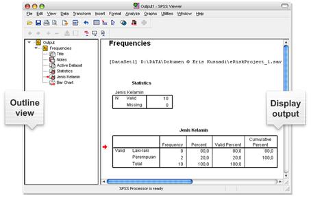 Indah munasari tugas perbaikan uas penjelasan msexcel dan spss display output pada spss viewer ccuart Gallery
