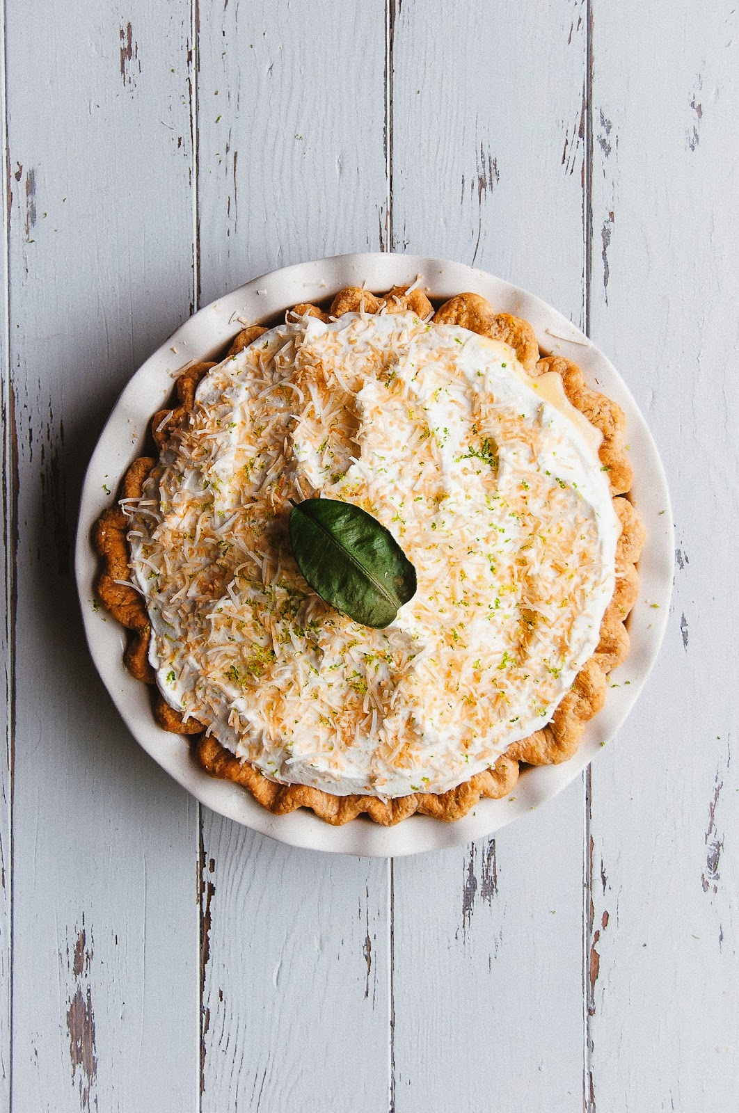Coconut and Kaffir Lime Custard Pie | Hint of Vanilla