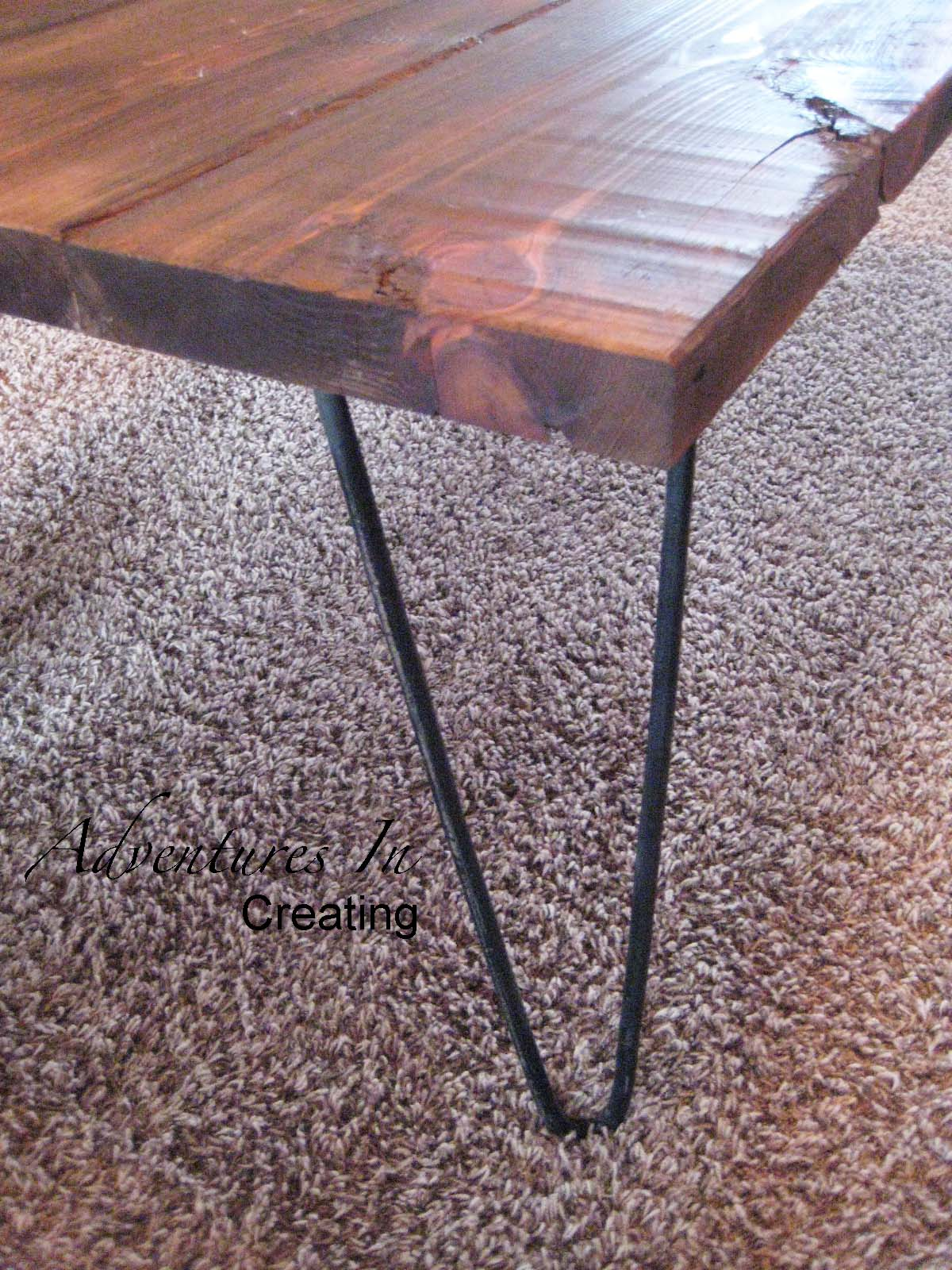 remodelaholic | reclaimed wood coffee table with hairpin legs