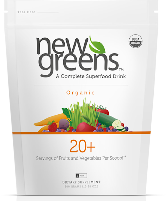 Introducing NewGreens Organic™ from Pure Prescriptions at 10% Off for The Whole Family - 1 Scoop = 20 Servings of Fruits & Veggies!